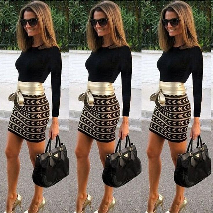 Fashion long-sleeved sexy Splicing printed dresses