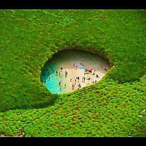 Secret beach in Mexico