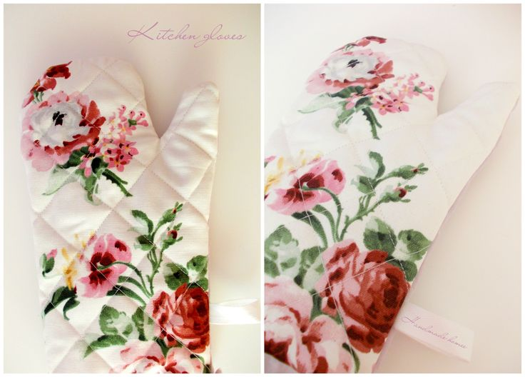 Kitchen gloves - roses :)