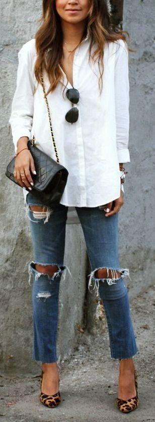 25  best White button down ideas on Pinterest   Minimal style ...