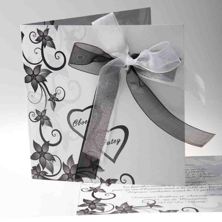 Faire Part Mariage Original Nœud Papillons Romantique JM101 faire part de mariage pas cher, sur mesure - joyeuxmariage.fr