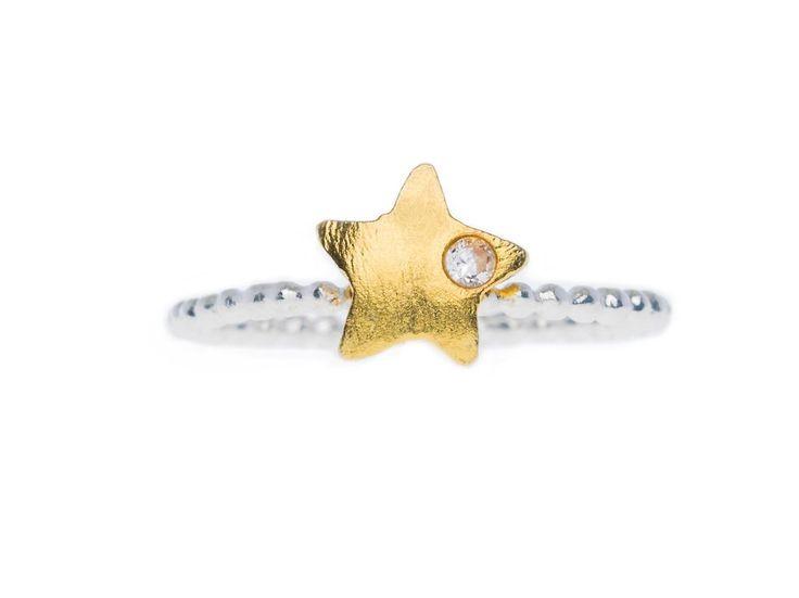 Star Ring - HeidisHoff.no #silver #gold #jewelry