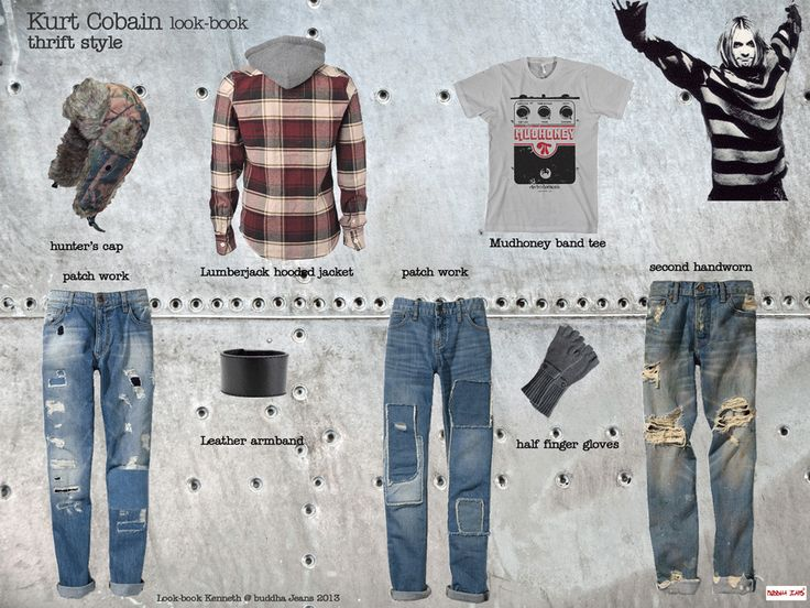 triftstyle-look-book-kurt-cobain | JEAN AND DENIM STYLE I ...