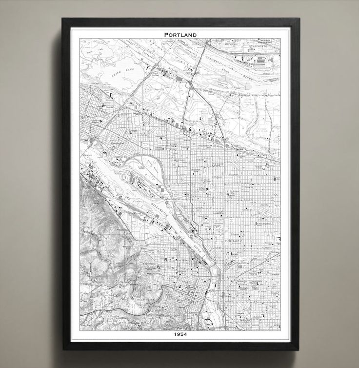 Map Print PORTLAND 37 best City Map