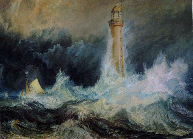 Paintings Of Ships At Sea | The Bell Rock Lighthouse by J.M.W.Turner | Chris Bellinger1