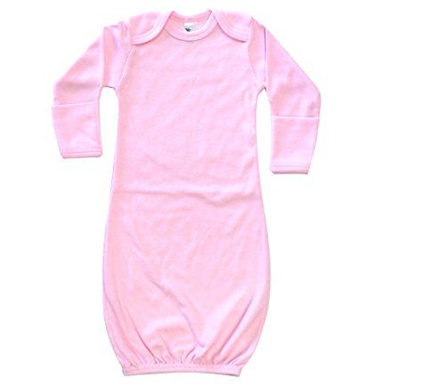 The Laughing Giraffe Unisex Baby Sleeper Gown with Mittens