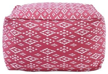 John Robshaw Textiles Pomegranate Square Bean Bags eclectic ottomans and cubes