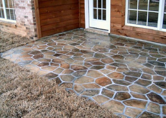 """stone patio.  Can't do this to our current house, but would love a stone patio in our """"forever house."""": Backyard Ideas, Concrete Patio, Outdoor Patio, Brick Patio, Stone Patios, Patio Ideas"""