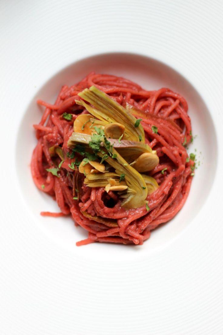 Spaghetti barbabietola&carciofi
