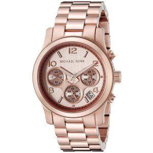 Michael Kors Women's Runway Analog Display Quartz Rose Gold Watch