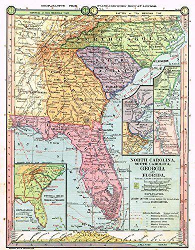 Map Of South Georgia And North Florida.Barnes S Geography North Carolina South Carolina Georgia
