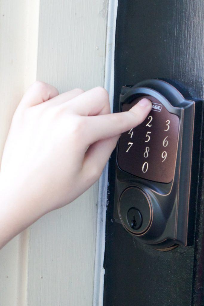 I am loving this new keyless entry lock from Schlage! So convenient, and