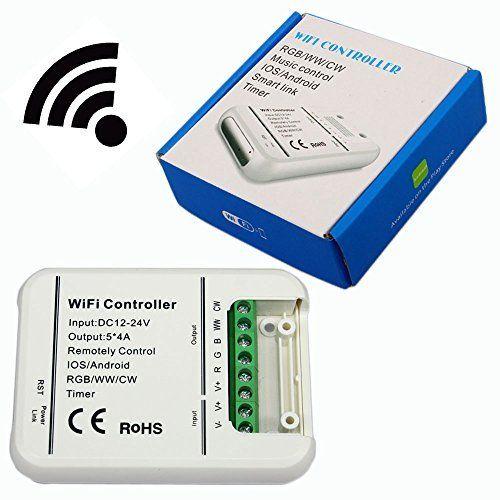 Original de 16 Millones de colores Wifi 5 canales RGB/WW/CW llevó controlador smartphone control de la música y el modo de temporizador wifi llevó el regulador