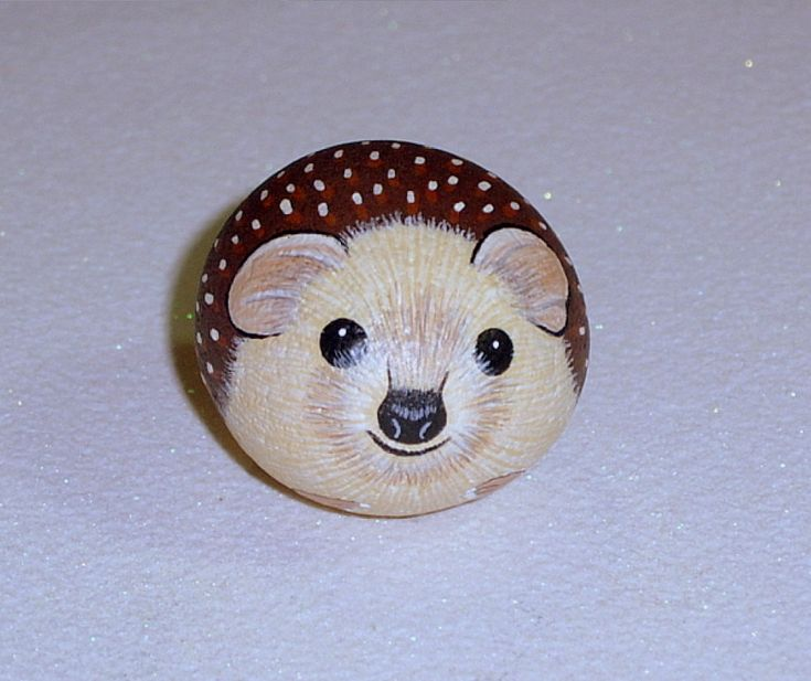 Hedgehog small pet animal handmade show and tell by RockArtiste