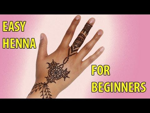 How to Apply Henna for Beginners With White Eye Liner to trace (Instead of tracing paper)