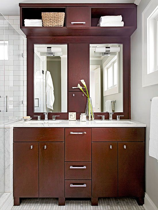 Small Bathroom Storage A Well Overhead Storage And