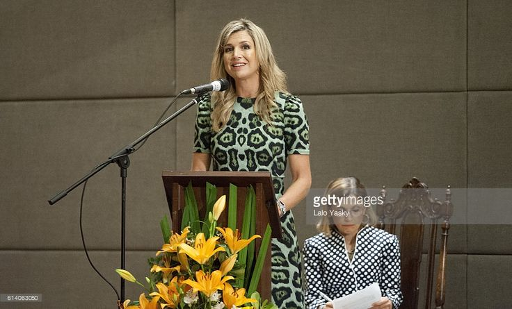 Queen Maxima of The Netherlands attends a conference at the UCA (Universidad Catolica de Buenos Aires)  on October 11, 2016 in Buenos Aires, Argentina.  (Photo by Lalo Yasky/Getty Images)
