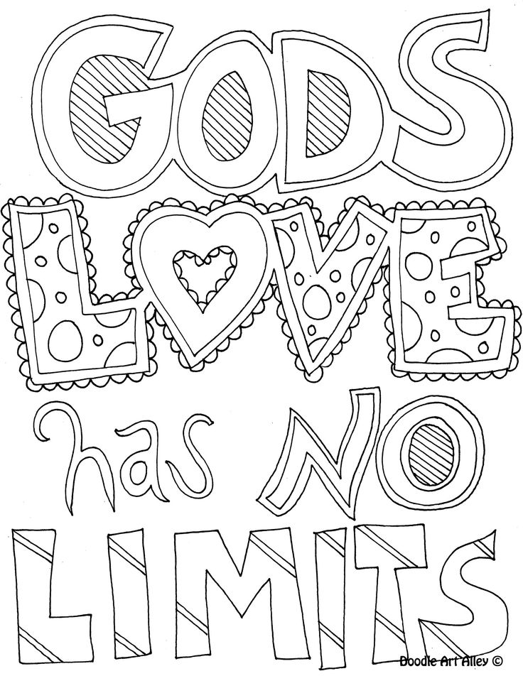 Gods Love Has No Limits Coloring Page Find This Pin And More On Adult Pages By Valerieannmott Quote From Doodle Art Alley