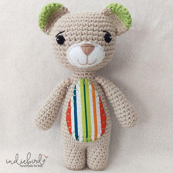 Crochet Teddy Bear Amigurumi Soft Toy Teddy by IndiebirdHandmade
