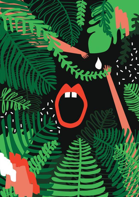 Pola Augustynowicz Plakat | Dżungla I #ladnerzeczy #targirzeczyladnych #ladnerzeczydziejasiewinternecie #polishdesign #design #poster #plakat #nature #jungle
