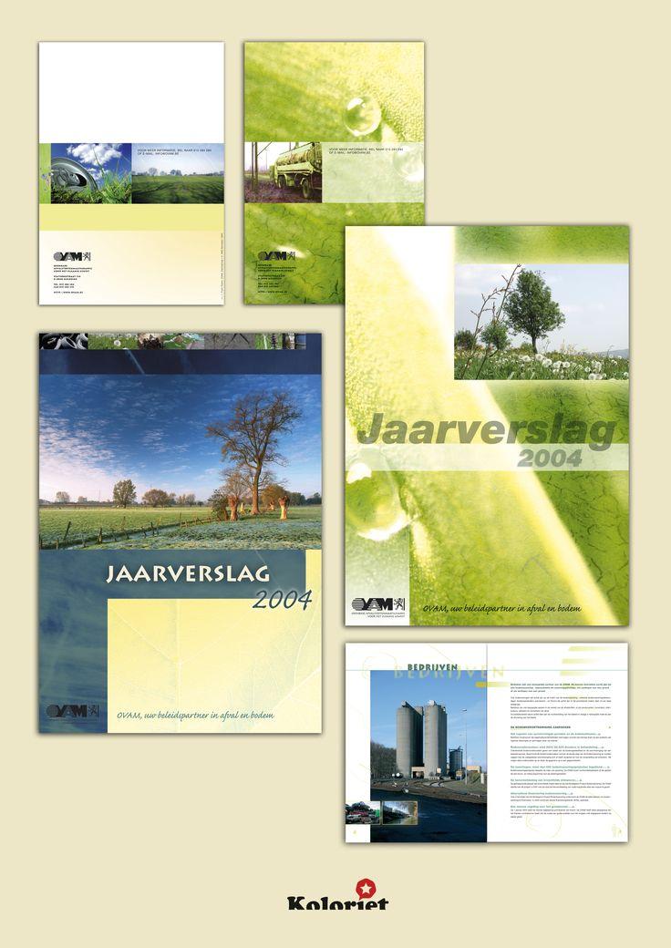 """Jaarverslag ontwerp """"OVAM"""" door Koloriet - Danni Elskens"""
