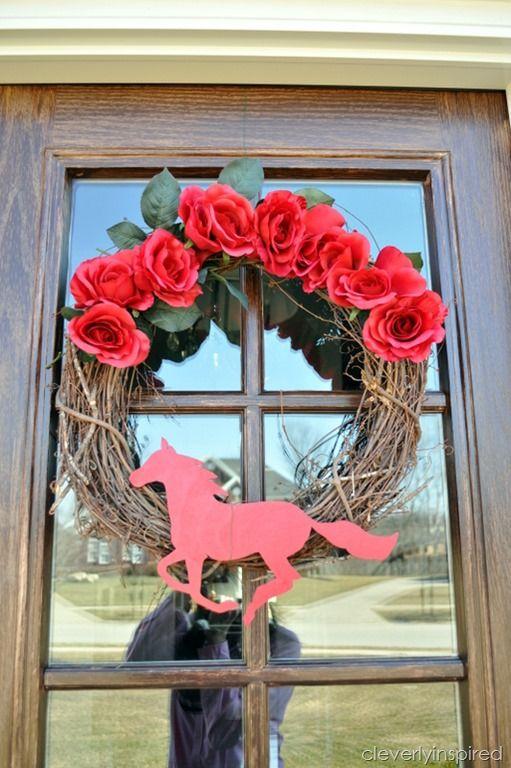 Kentucky Derby Wreath @cleverlyinspired (2)