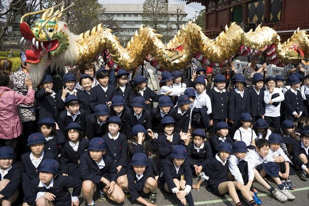 The Golden Dragon Dance of Senso-Ji