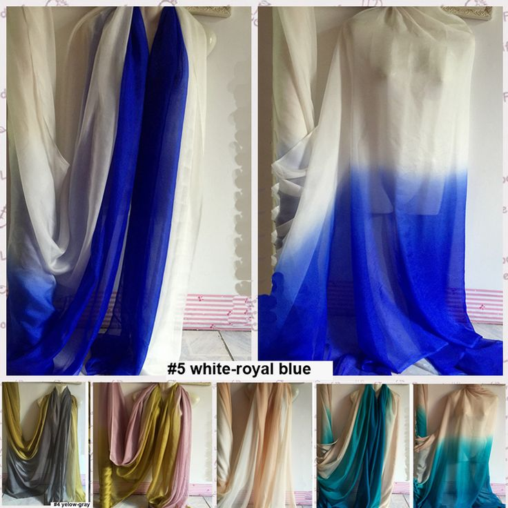 Mulberry Silk Chiffon Material Ombre Color Gradient Fabric Silk Chiffon Gauze Sheer Meter-in Fabric from Home, Kitchen & Garden on Aliexpress.com | Alibaba Group