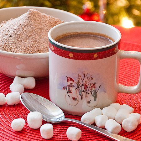 Homemade Hot Cocoa Mix - nonfat dry milk powder, sugar, powdered coffee creamer, cocoa powder, instant chocolate pudding mix. Silas would LOVE this!