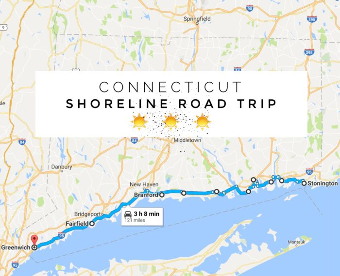 Check out the map for the Connecticut Shoreline Road Trip by clicking <a…