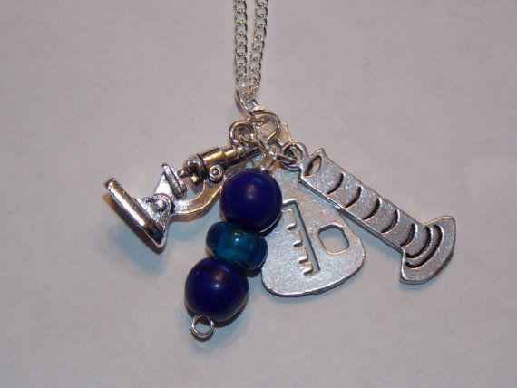 Gorgeous Geekery Custom Charm Necklace  Beaker by TheRobotPrincess, $25.00