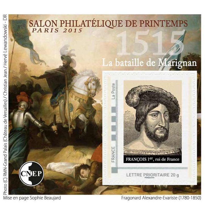 Timbre : 2015 Salon philatélique de printemps Paris 2015 - 1515 La bataille de Marignan | WikiTimbres