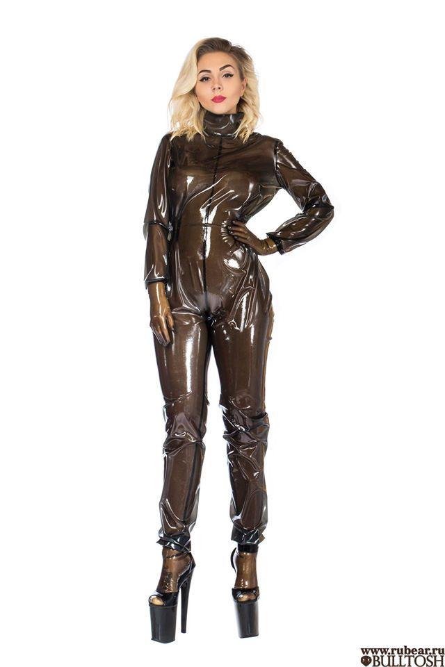 Transparent latex suit