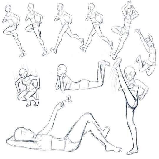 Human running motion