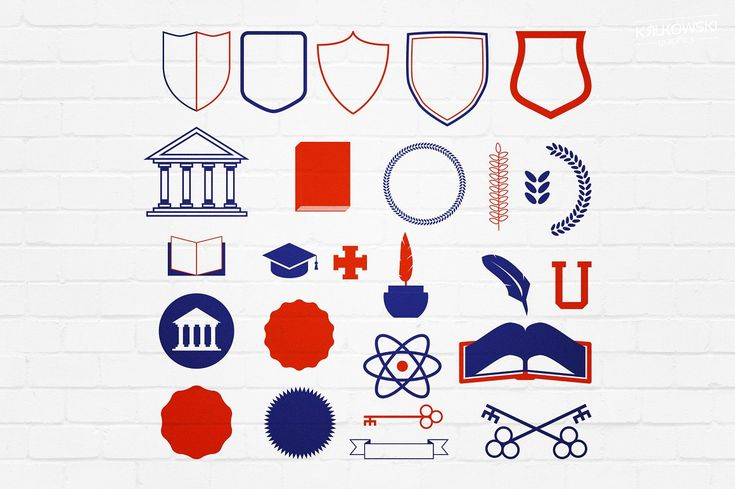 Academic College School Badges Logos by Krukowski Graphics on @creativemarket