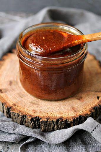 Easy Homemade Enchilada Sauce With Olive Oil, Flour, Chili Powder, Tomato Paste, Tomato Sauce, Vegetable Stock, Cumin, Onion Powder, Minced Garlic, Salt