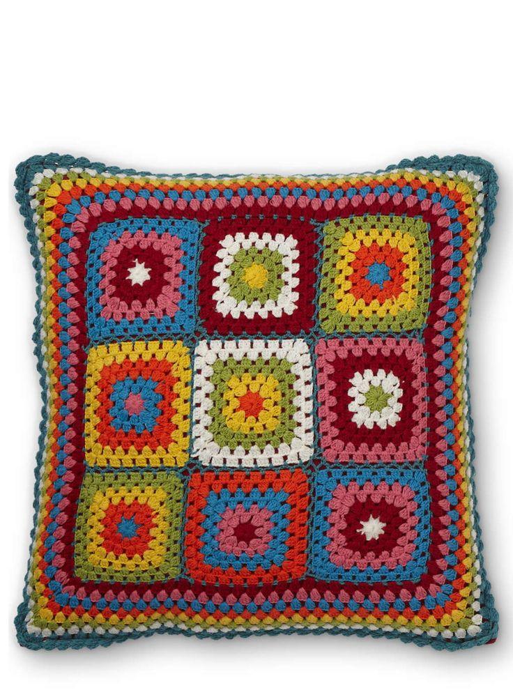 Crochet Cushion, Multi