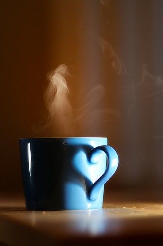 Love coffee... the handle of this cup sillhouettes a heart :)