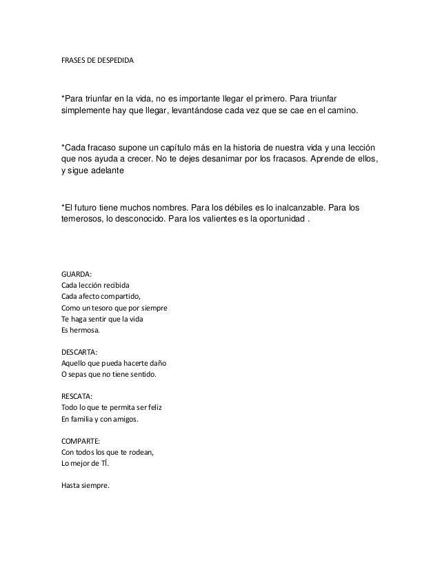 Frases Despedida Sexto Grado Frases School Teacher