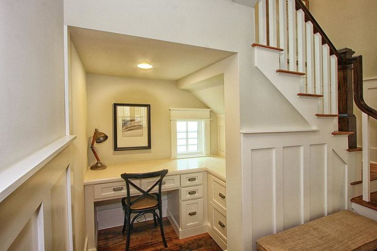 17 best ideas about desk under stairs on pinterest under for Office stairs design