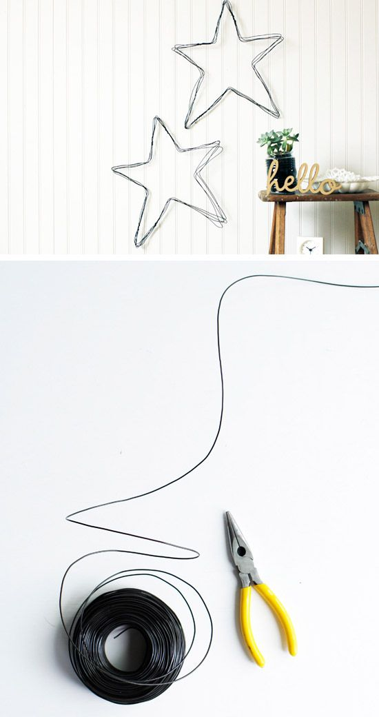 DIY Wire Star Wall Art | Click Pic for 36 DIY Wall Art Ideas for Living Room | DIY Wall Decorating Ideas for the Home