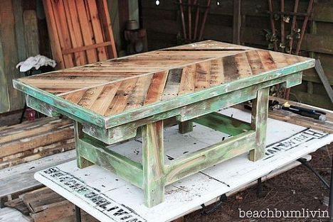 Awesome pallet coffee table