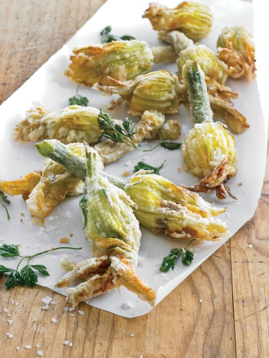 Zucchini Blossoms Stuffed with Ricotta