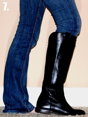 How to tuck non-skinny jeans into boots. Genius!