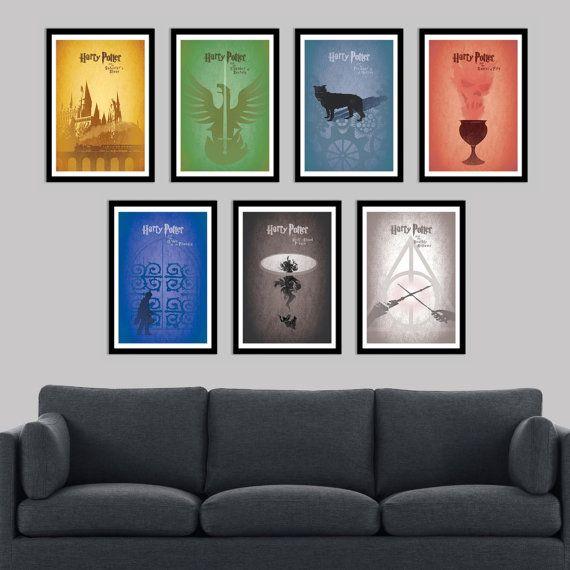 8,5 x 11 Harry Potter Poster Set - enthält alle 7 in der Harry-Potter-Reihe