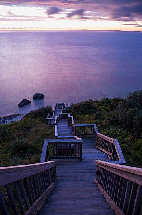 Martha's Vineyard...infinite stairs at night