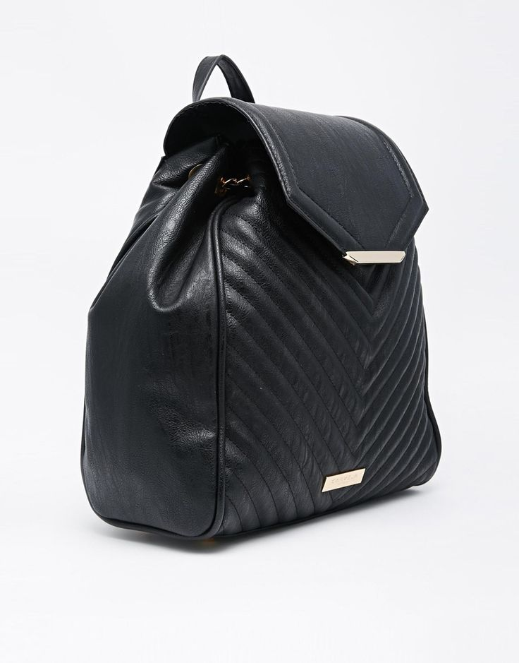 Image 2 ofCarvela Quilted Backpack With Chain Detail