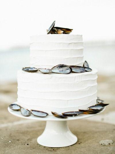 Seaside Inspired Wedding Cake Http Www Stylemepretty Little