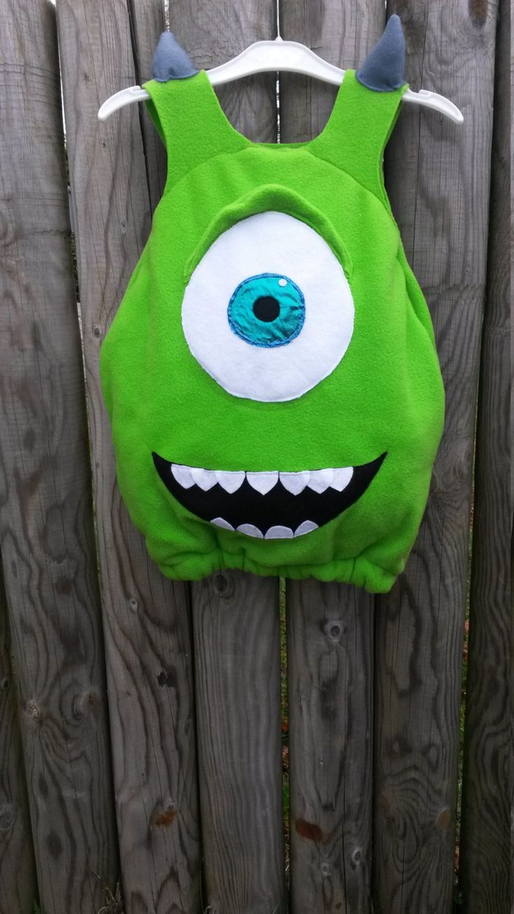 Mike Wazowski Costume from Disney Pixar's Monsters Inc. For Babies Toddlers and Children. Perfect for Parties, Halloween, Fancy Dress. by MeniainWonderland on Etsy