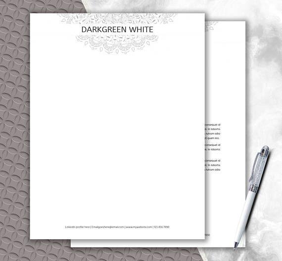 Mandala Letterhead Design  Elegant Mandala Stationary Paper